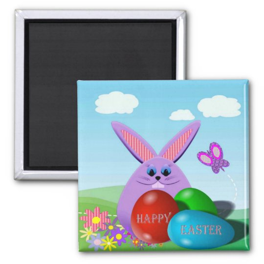 Easter Eggs and Bunny Magnet