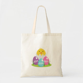 Easter Eggs and Chick Budget Tote Bag