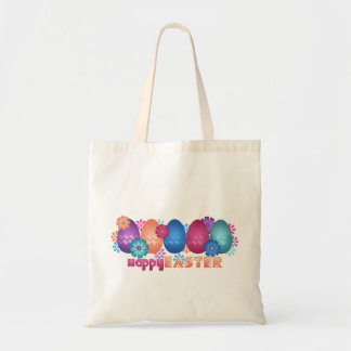 Easter Eggs and Spring Flowers Canvas Bag