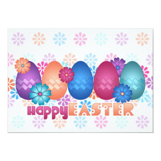 Easter Eggs and Spring Flowers Invite
