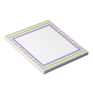 Easter Eggs and Stripes Note Pad