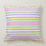 Easter Eggs and Stripes Throw Pillow
