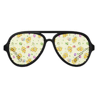 Easter Eggs & Baby Chicks Aviator Sunglasses
