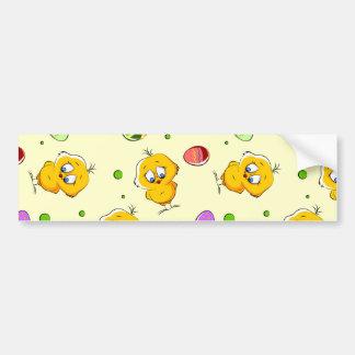 Easter Eggs & Baby Chicks Bumper Sticker