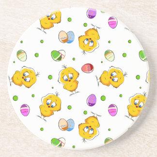 Easter Eggs & Baby Chicks Coaster