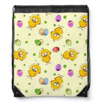 Easter Eggs & Baby Chicks Drawstring Backpack