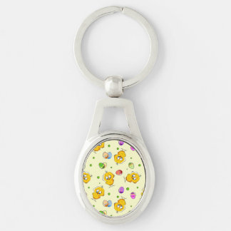 Easter Eggs & Baby Chicks Keychain