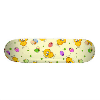 Easter Eggs & Baby Chicks Skateboard Deck