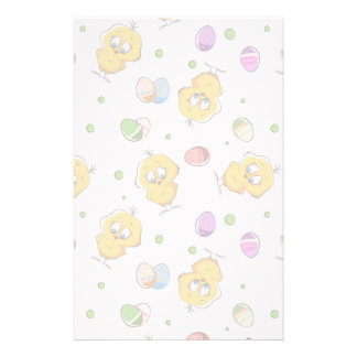Easter Eggs & Baby Chicks Stationery