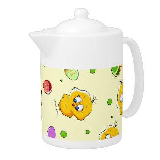 Easter Eggs & Baby Chicks Teapot