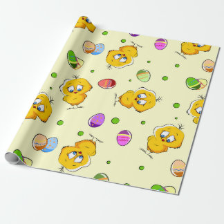 Easter Eggs & Baby Chicks Wrapping Paper