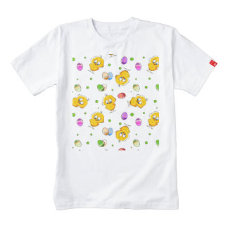 Easter Eggs & Baby Chicks Zazzle HEART T-Shirt