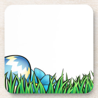 Easter Eggs Background Drink Coaster