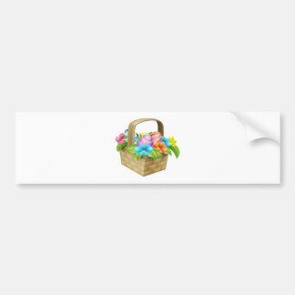 Easter Eggs Basket Bumper Sticker
