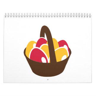 Easter eggs basket calendar