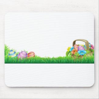 Easter Eggs Basket Design Element Mouse Pad