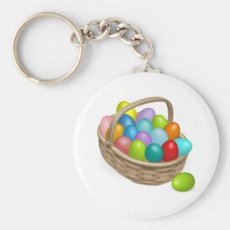 Easter eggs basket illustration key chain