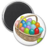 Easter eggs basket illustration refrigerator magnets