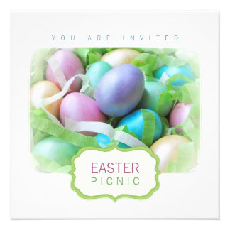 Easter Eggs Basket Picnic invitation