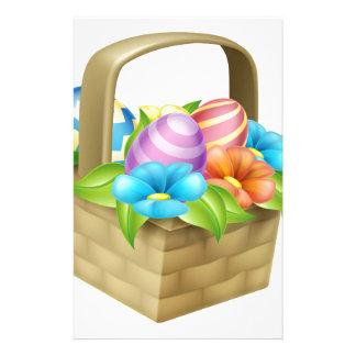 Easter Eggs Basket Stationery