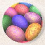 easter eggs beverage coasters