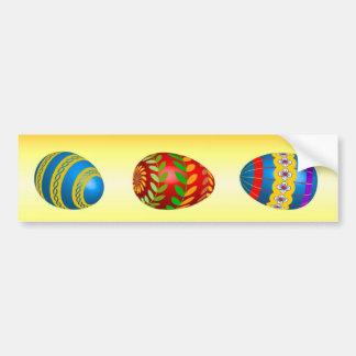 Easter Eggs Car Bumper Sticker