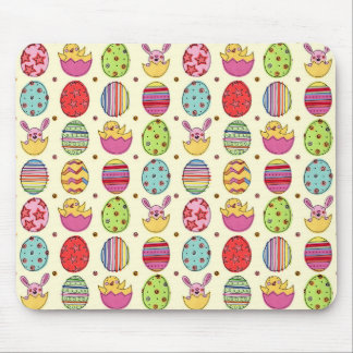 Easter Eggs Bunnies and Chicks Mouse Pad