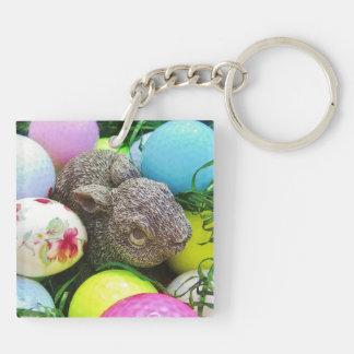 Easter Eggs, bunny and Golf Balls Acrylic Key Chains