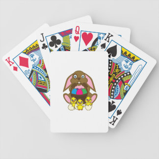 Easter Eggs Bunny Bicycle Playing Cards