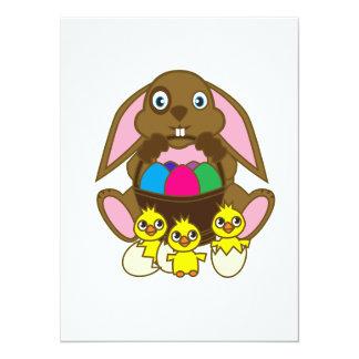 Easter Eggs Bunny Card