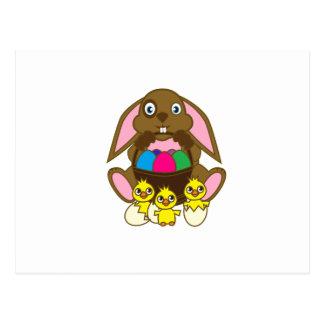Easter Eggs Bunny Postcard