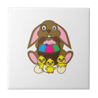 Easter Eggs Bunny Tile