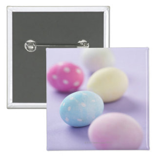 Easter eggs 2 inch square button