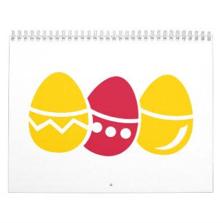 Easter eggs calendar