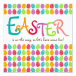 Easter Eggs Card at Zazzle