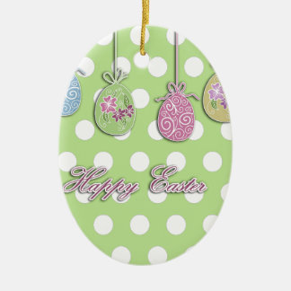 Easter eggs ceramic ornament