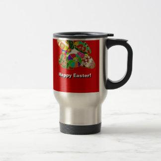 Easter Eggs Colorful Abstract Design Travel Mug