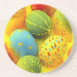 Easter eggs drink coaster