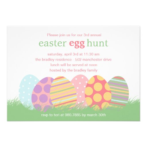Easter Eggs Easter Party Invitation Personalized Invite