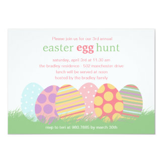 """Easter Eggs Easter Party Invitation 5"""" X 7"""" Invitation Card"""