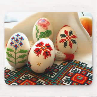 Easter Eggs Embroidered Mouse Pad