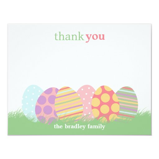 easter eggs flat thank you card or note card