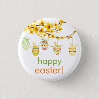Easter Eggs, Forsythia Branch Button