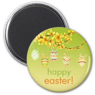 Easter Eggs, Forsythia Branch Magnet
