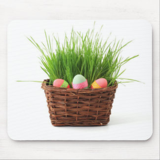 Easter Eggs greeting card Mouse Pad