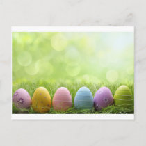Easter Eggs Holiday Postcard