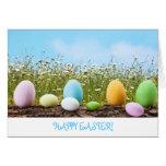 Easter Eggs Hunt Greeting Card