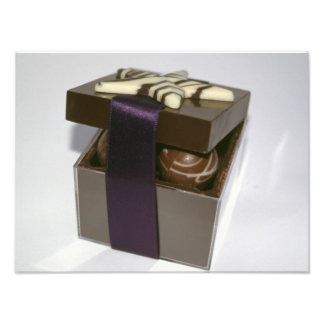 Easter eggs in a chocolate box photo art