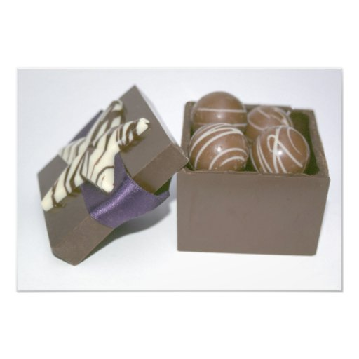 Easter eggs in a chocolate box photo print