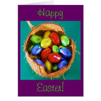 Easter Eggs in Basket III Greeting Card